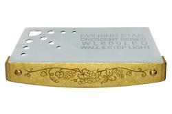 Crescent™ Series Hardscape Light - Antiqued Brass Vignette