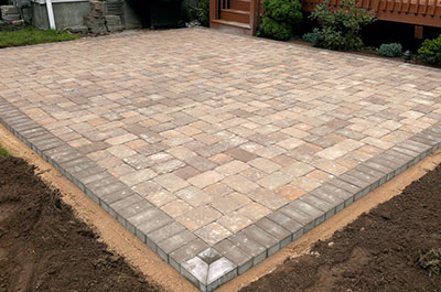 Pavers laid over wire