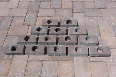 Cored pavers